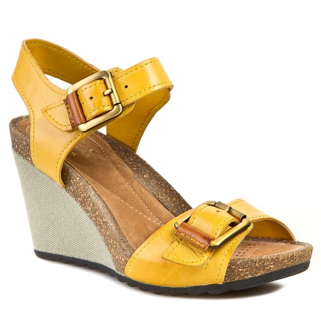 7538f17fa832df Sandals CLARKS - Overly Sparkle 261059054 Honey Leather - Casual ...