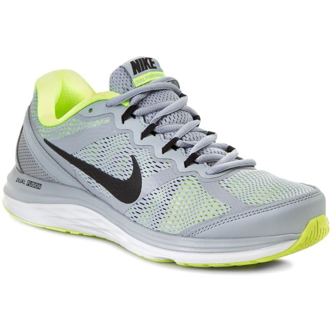 Shoes NIKE - Dual Fusion Run 3 Msl 653619 025 Wolf Grey/Black/Volt