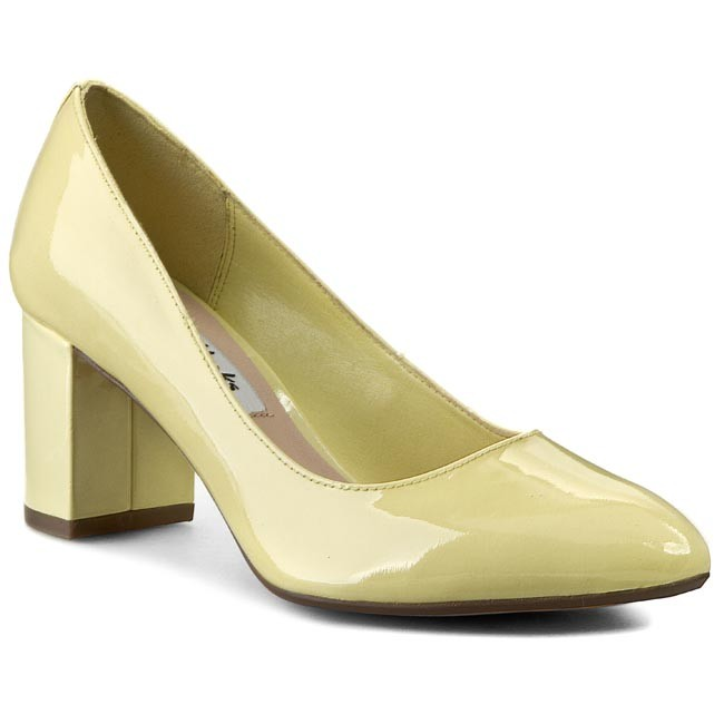Shoes CLARKS - Blissful Cloud 261064894 Pale Yellow Pat - Heels ...