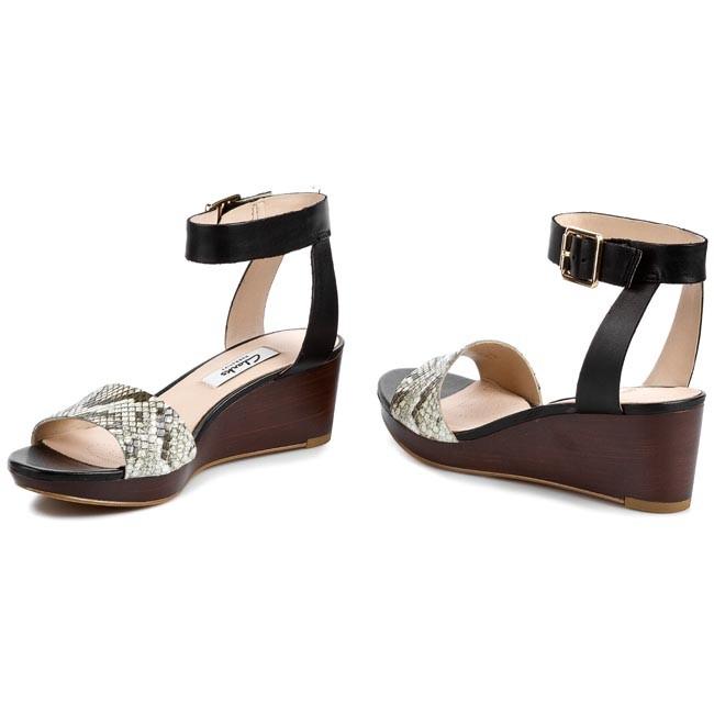 c6dad3772 Sandals CLARKS - Ornate Jewel 261086184 Black Snake - Casual sandals ...
