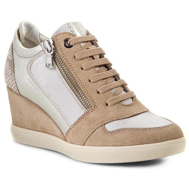 Sneakers GEOX - D Eleni B D4467B 0AS22 C6437 Beige - Sneakers - Low ... 4d8133a60fb