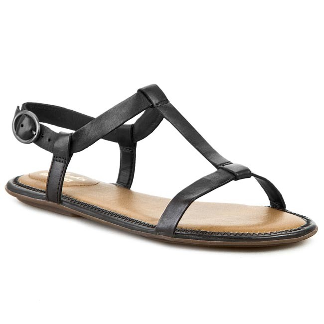 5295bb47a5c8ca Sandals CLARKS - Risi Hop 261088604 Black Leather - Casual sandals ...