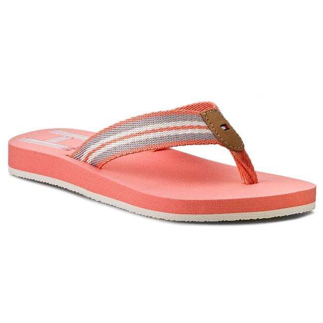6c5cb3c11d056 Slides TOMMY HILFIGER - Monica 26D FW56818946 Burnt Coral 947 - Flip ...