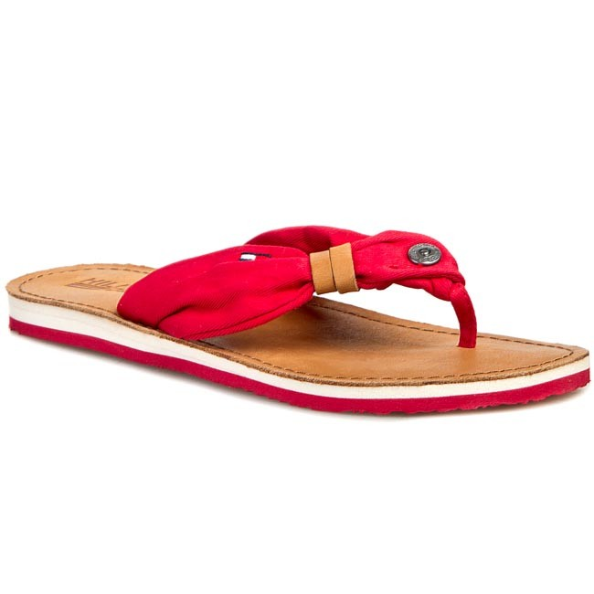 Slides TOMMY HILFIGER - DENIM Sea 6D EN56818691 Tango Red 611 - Flip ... 9169fa29fb