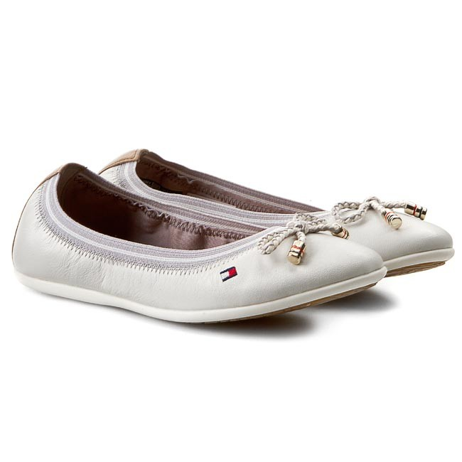 b46f9ddb23287 Flats TOMMY HILFIGER - Dahlia 22A FG56818974 Whisper White 121 M -  Ballerina shoes - Low shoes - Girl - Kids  shoes - www.efootwear.eu