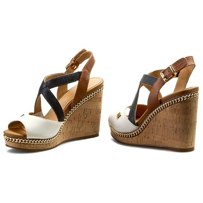 Sandals TOMMY HILFIGER - Emery 70A FW56818553 Whisper White Midnight Summer  Cognac 121 1801bc6a1ce