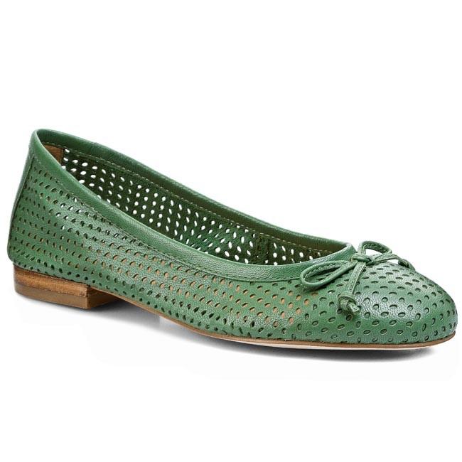 9 Flats Ballerina Shoes 24 Green 700 Caprice 22111 Low 6AwnAT1xq