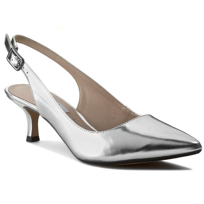 Sandals CLARKS - Aquifer Belle 261054505 Silver Metallic