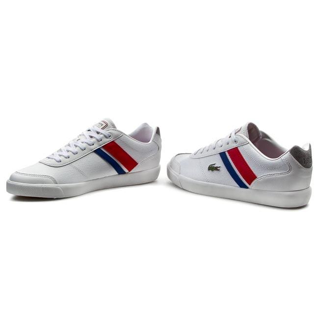 Shoes LACOSTE - Comba PRI SPM 7-29SPM0014286 White/Red
