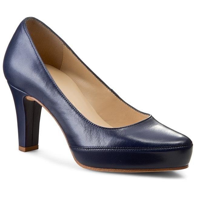 15f3acd1b192 Shoes UNISA - Numar 15 Navy Napa Silk - Heels - Low shoes - Women s ...