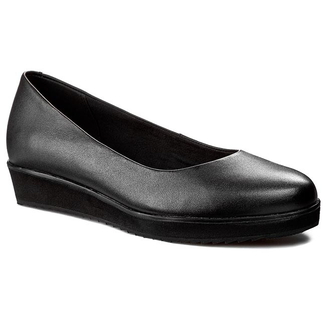 fa34b3bde Shoes CLARKS - Compass Zone 261010045 Black Leather - Wedge-heeled ...