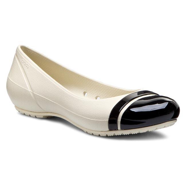 dc76aab62e04b Flats CROCS - Cap Toe Flat 12300 Stucco Black - Ballerina shoes ...