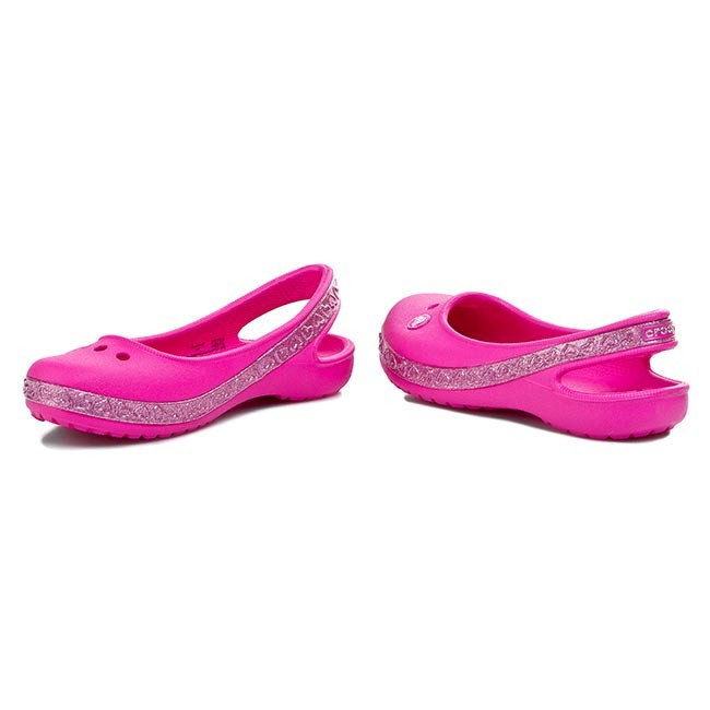 cd6ed7945291 Sandals CROCS - Genna II Hearts Flat Gs 14481 Neon Magenta Carnation ...