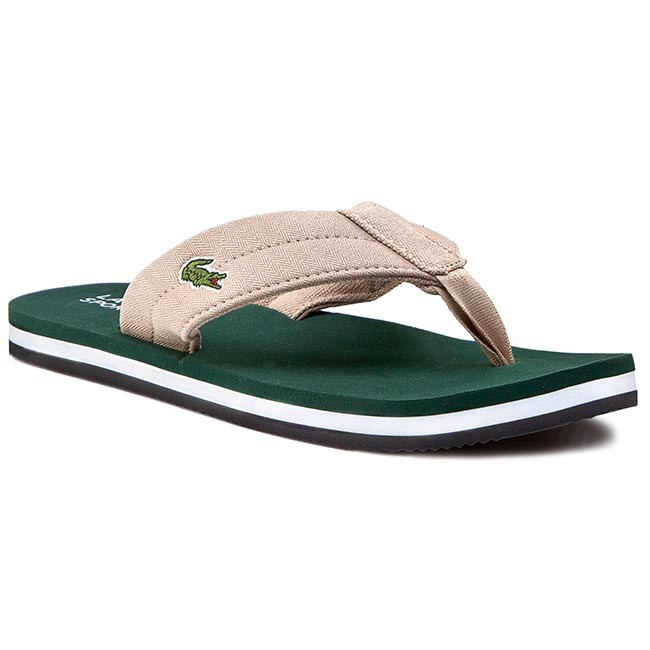 c2d2eba4f Slides LACOSTE - Randle Tbr Spm 7-29SPM00411R8 Natural Dark Green ...
