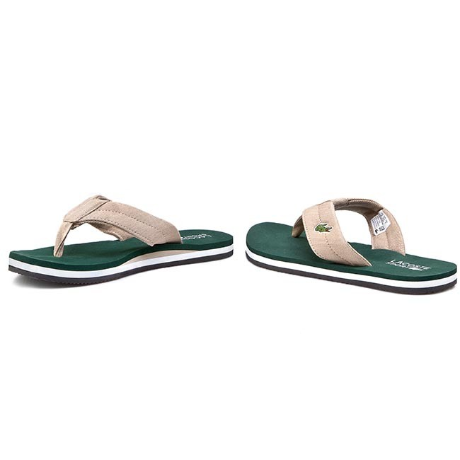 86c57b592 Slides LACOSTE - Randle Tbr Spm 7-29SPM00411R8 Natural Dark Green ...