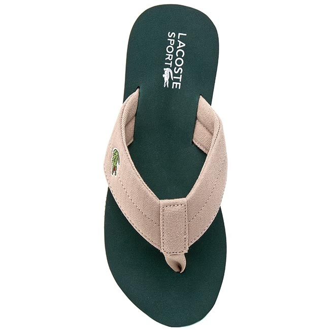 67e05666e Slides LACOSTE - Randle Tbr Spm 7-29SPM00411R8 Natural Dark Green -  Flip-flops - Mules and sandals - Men s shoes - www.efootwear.eu