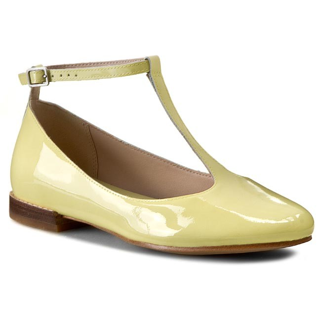 Shoes CLARKS - Festival Glee 261083894 Pale Yellow Pat