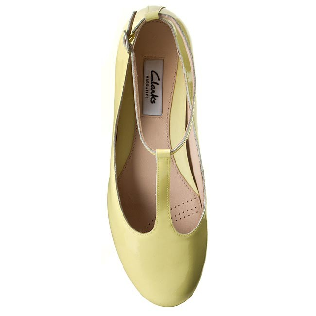 Shoes CLARKS Festival Glee 261083894 Pale Yellow Pat