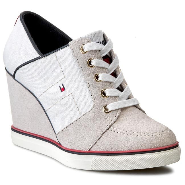 Tommy Hilfiger WEDGE - Trainers - white bRhgylwrD