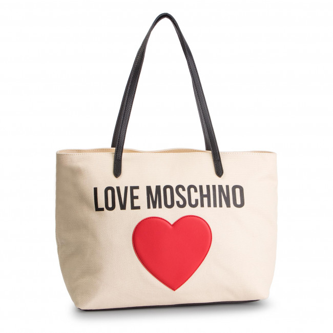 98740897f4 Handbag LOVE MOSCHINO - JC4330PP07KV110A Avorio Pebble Nero - Canvas ...