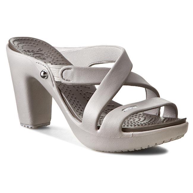 Slides CROCS - Cyprus IV Heel W 14558 Platinum/Pewter