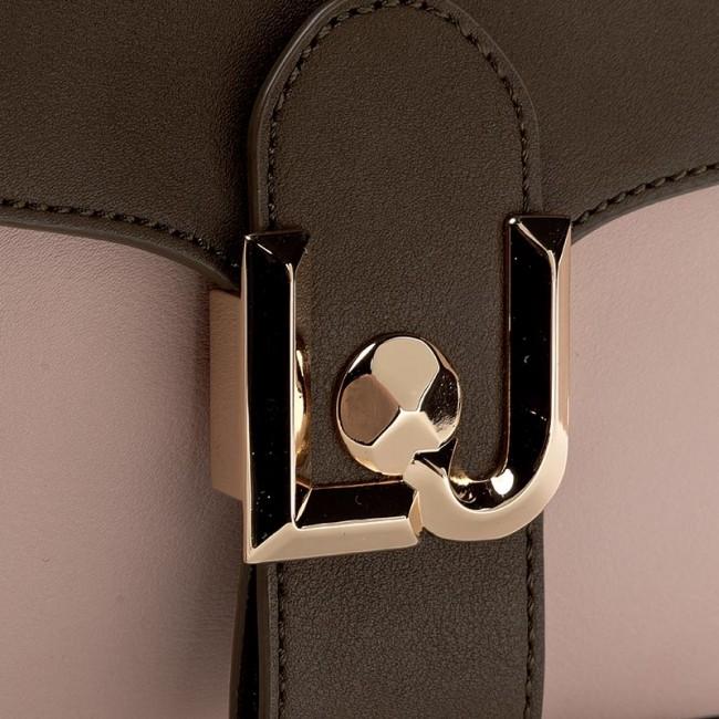 Handbag LIU JO - Baguette C Patta Fre A17082 E0007 Black Stone Gry W9020 c45c57f26cf
