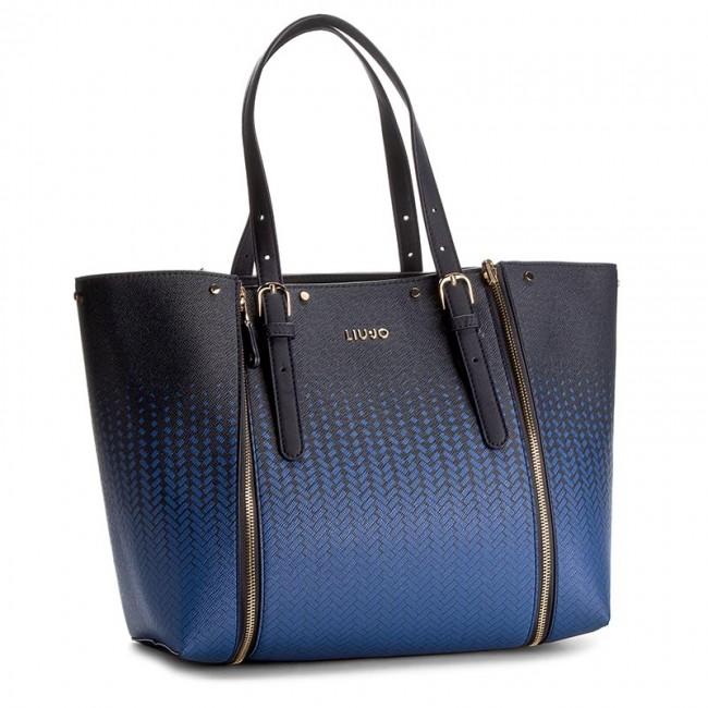 Handbag LIU JO - Shopping L Revers Aromia Stamp N17234 E0204 Monaco Blu  A3565 a6d411a4110
