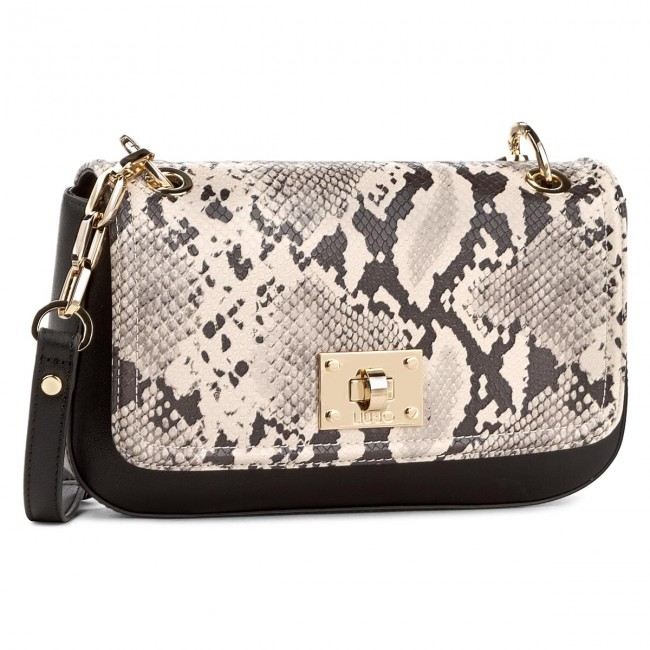 Handbag LIU JO - Baguette C Patta Lil N67112 E0019 Pale Brown Ner W9862 1357ed5112b