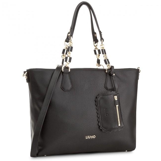 Handbag LIU JO - E W Tote Detroit A18003 E0027 Nero 22222 - Classic ... f1c04164d97