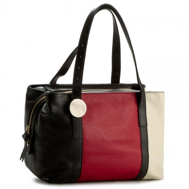Handbag LIU JO - Bauletto Cabo N66176 P0129 Nero Tomato Des A3392 ... b6c8684f3b8