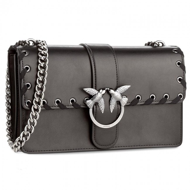 d39a105e580 Handbag PINKO - Love Laces Al 17-18 PLTT 1P2106 Y3XX Black - Cross ...