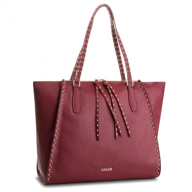 Handbag LIU JO - L Tote Gioia A68046 E0033 Dark Red 91530 - Canvas ... ba8e49e5c2f