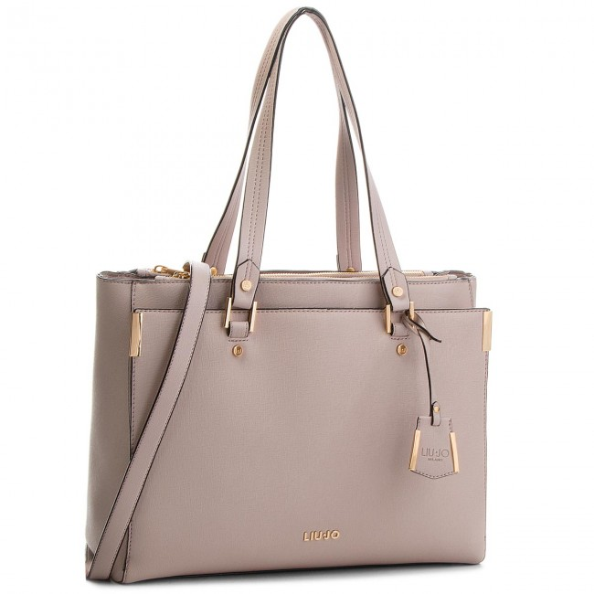 BORSA LIU JO ISOLA A68001 TOTE BAG L ROSA POWDER PINK RED SAND + ... 62895a288b3