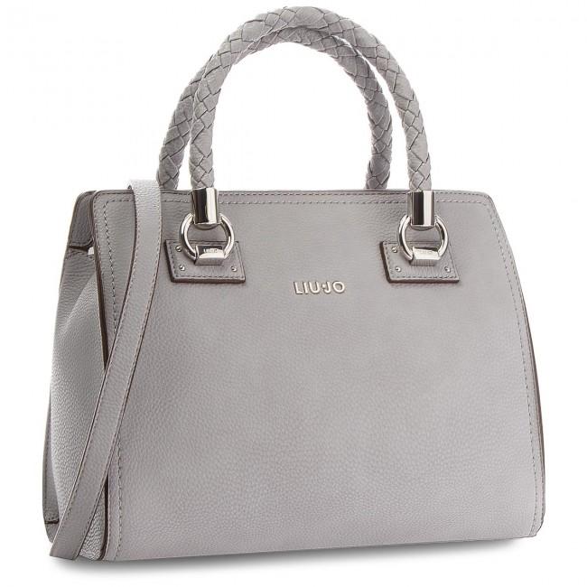 Handbag LIU JO - M Satchel Manhattan A68100 E0011 Frozen 63850 ... 14b79bd4335