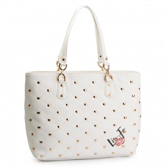 Handbag LIU JO - M Tote N19075 E0010 Off White 01065 - Canvas Totes ... cdef13c346d