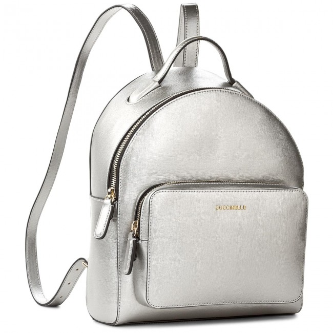 768fd58d96e34 Backpack COCCINELLE - BF5 Clementine E1 BF5 14 01 01 Silver 169 ...