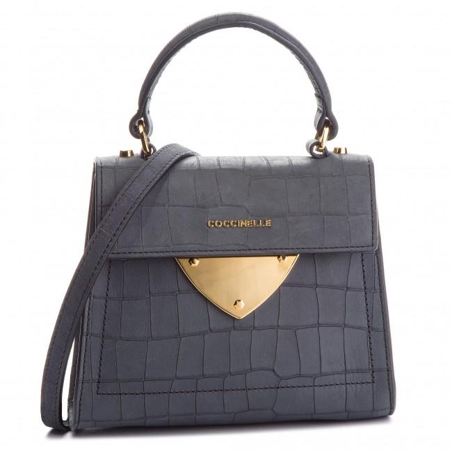 30a5694f6fd78 Handbag COCCINELLE - C12 B14 Mat Crocco E1 C12 55 77 01 Noir 001 ...