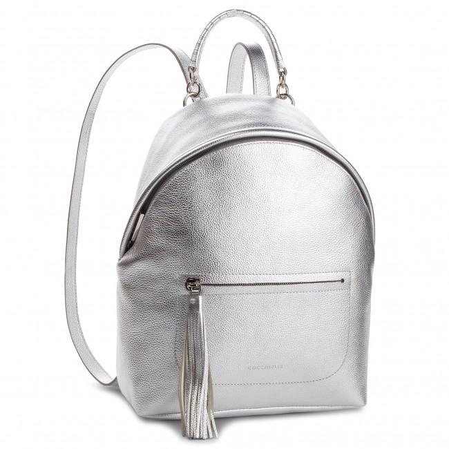 7f1a1438dd4ef Backpack COCCINELLE - CN0 Leonie E1 CN0 14 01 01 Silver Y69 ...