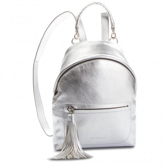 eb283ebd0819b Backpack COCCINELLE - CN0 Leonie E1 CN0 54 03 01 Silver Y69 ...