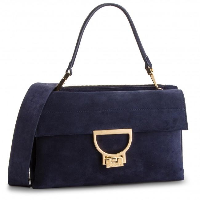 b32b1fde46b49 Handbag COCCINELLE - DD6 Arlettis Suede E1 DD6 12 01 01 Bleu B11 ...