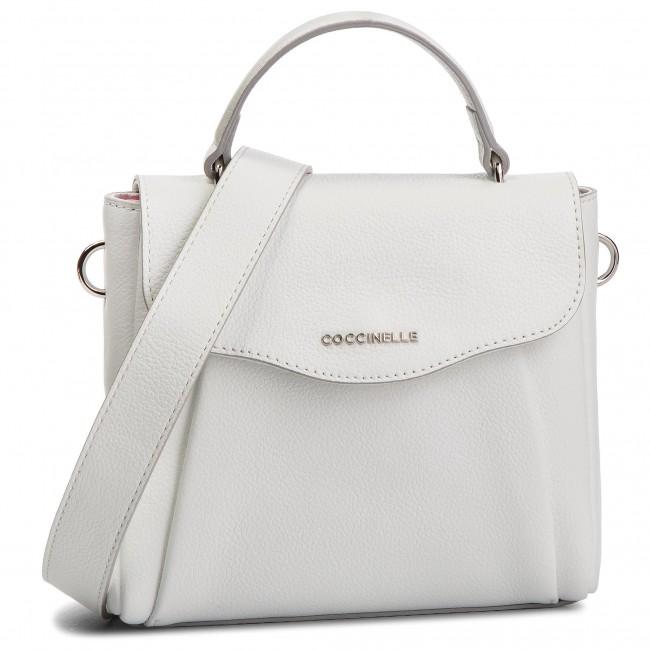56e145f9bb1a Handbag COCCINELLE - DR5 Andromeda E1 DR5 55 01 01 Blanche H10 ...