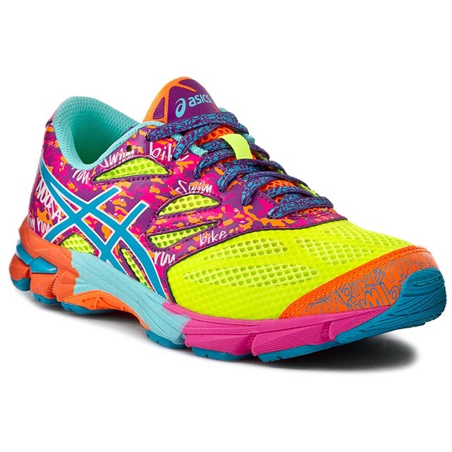 asics gel-noosa tri 10 flash yellow/ turquoise/ flash pink