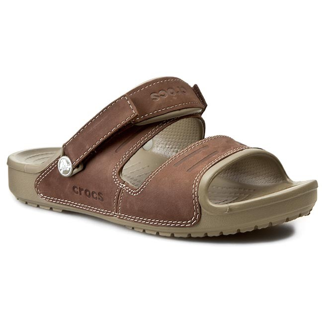c1a09f181c33 Slides CROCS - Yukon Two-Strap Sandal M 14325 Khaki Espresso - Clogs ...