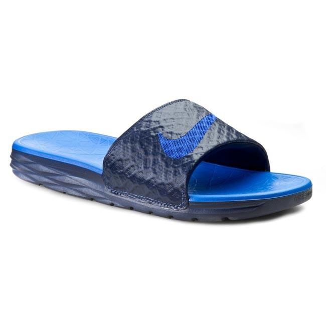 Slides NIKE - Benassi Solarsoft Slide 2 705474 440 Midnight Navy Lyon Blue 1c41c8f1e90