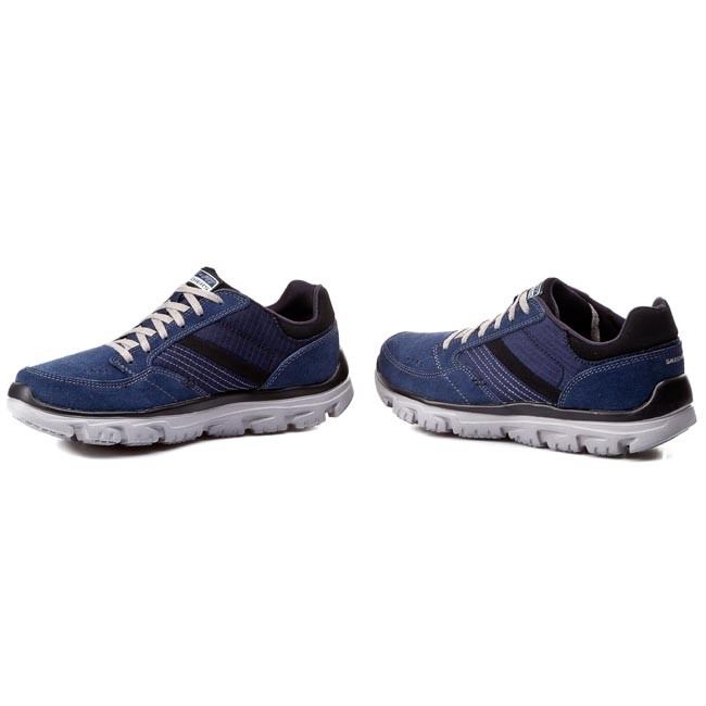 805c072dcf4f7 Shoes SKECHERS - L-Fit Comfort Life 51400/NVGY Navy/Gray - Casual - Low  shoes - Men's shoes - efootwear.eu
