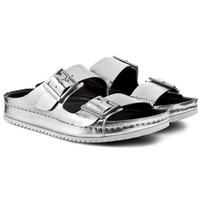 142ca7cb1 Slides CLARKS - Netrix Rose 261087404 Silver Metallic - Casual mules -  Mules - Mules and sandals - Women s shoes - www.efootwear.eu
