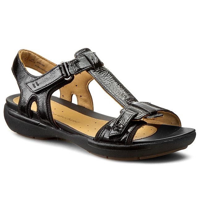 54bb399dccd Sandals CLARKS - Un Voshell 261057894 Black Leather - Casual sandals ...