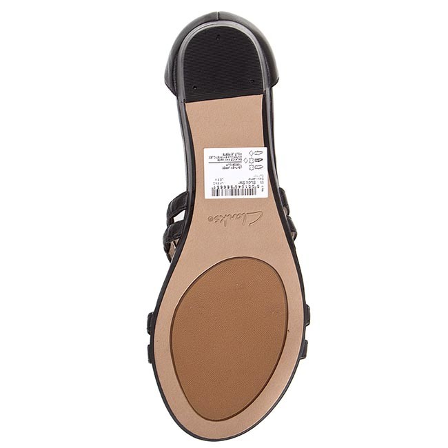 d2127a4f384a2b Sandals CLARKS - Studio Star 261065814 Black Leather - Casual sandals -  Sandals - Mules and sandals - Women s shoes - www.efootwear.eu