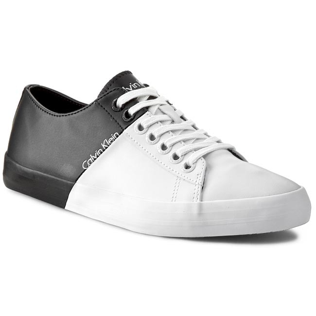calvin klein shoes black with white sole sneakers release