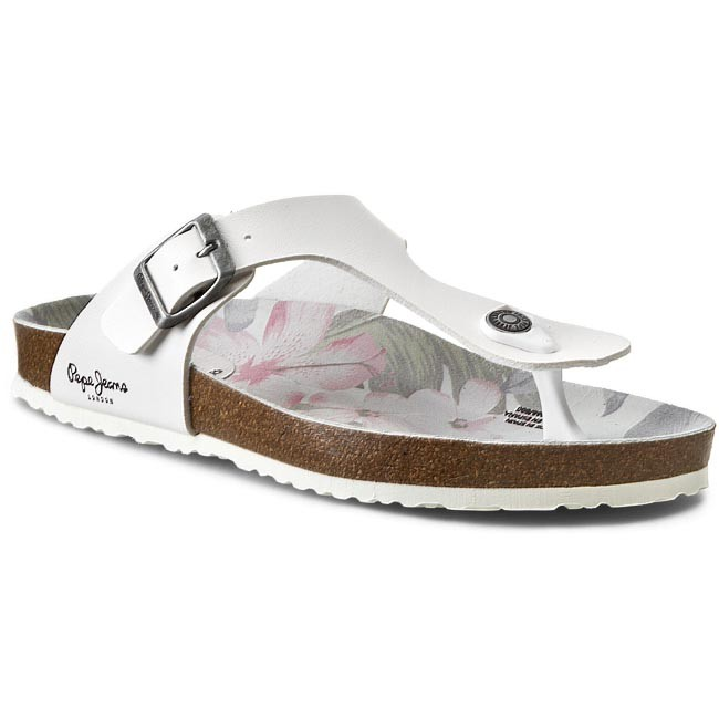 Slides PEPE JEANS - Oban Tropic PLS10068 White 800